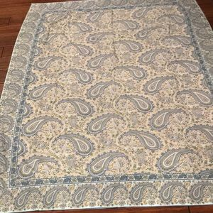 "April Cornell Paisley Tablecloth 58 x 76"" EUC"